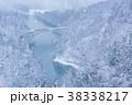 只見川第一鉄橋 雪景色 雪の写真 38338217