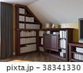 3d illustration of a home library on the attic 38341330