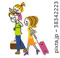 家族 旅行 旅のイラスト 38342223