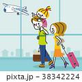 家族 旅行 空港のイラスト 38342224