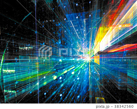 Inside tunnel - abstract digitally generated image 38342560