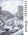 冬の定山渓温泉街 38343412
