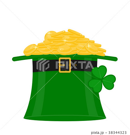 St Patrick's hat with gold 38344323