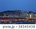 駅 夜景 山の写真 38345438