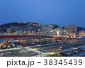 駅 夜景 山の写真 38345439