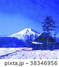 富士山 水彩画風 38346956