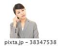 女性 ビジネスウーマン 考えるの写真 38347538