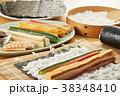 巻き寿司 調理シーン 寿司の写真 38348410