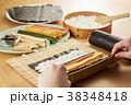 巻き寿司 調理シーン 寿司の写真 38348418