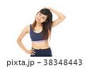 女性 エクササイズ ストレッチの写真 38348443