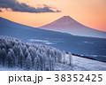 霧ヶ峰ビーナスラインから 霧氷 富士山 38352425