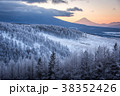 霧ヶ峰ビーナスラインから 霧氷 富士山 38352426