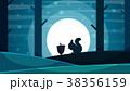 リス りす 栗鼠のイラスト 38356159