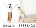 親子 家族 子供 女の子 小学生 女性 ライフスタイル 38358428