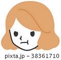 女性 人物 顔のイラスト 38361710