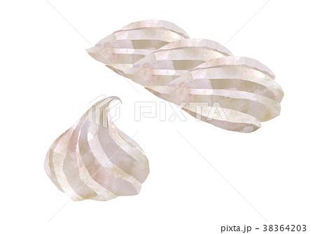 ホイップクリーム2個イラストセットのイラスト素材 38364203 Pixta