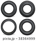 タイヤ ホイール 車輪のイラスト 38364999