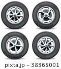 タイヤ ホイール 車輪のイラスト 38365001