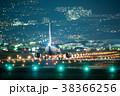 夜の空港 出発便 ボーイング737 38366256
