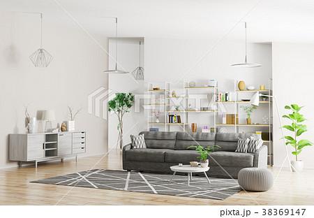 Interior of modern apartment 3d rendering 38369147