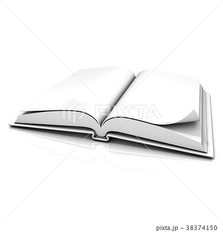 Blank open white book 38374150
