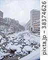 冬の定山渓温泉街 38374626