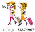 旅行 女性 友達のイラスト 38374907