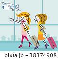 旅行 女性 友達のイラスト 38374908