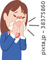 風邪 花粉症 鼻炎のイラスト 38375860