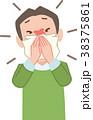 風邪 花粉症 鼻炎のイラスト 38375861