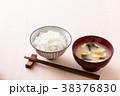 ごはんと味噌汁 38376830