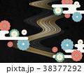 和モダン 菊の花(和紙テクスチャー) 38377292