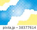 素材-空と飛行機(夏2)テクスチャ 38377614