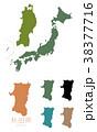 日本 日本地図 日本列島のイラスト 38377716