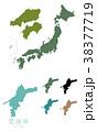 日本 日本地図 日本列島のイラスト 38377719