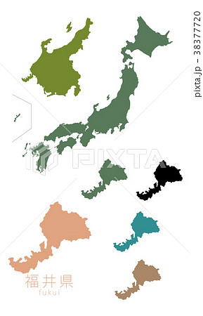 日本地図_都道府県_福井 38377720