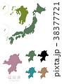 日本 日本地図 日本列島のイラスト 38377721