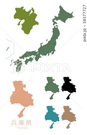 日本地図_都道府県_兵庫 38377727