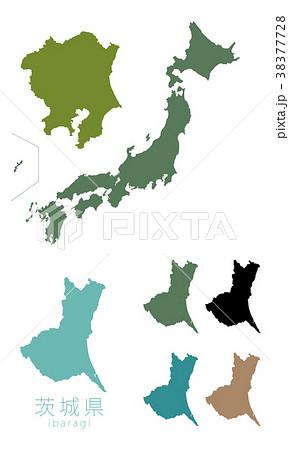 日本地図_都道府県_茨城 38377728