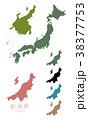 日本地図_都道府県_新潟 38377753
