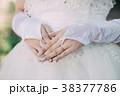 花嫁 ウエディンググローブ ブライダルネイル 手元 38377786