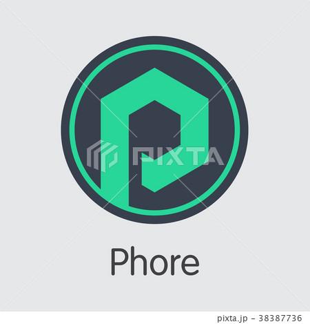 Phore Blockchain Cryptocurrency - Vector Web Icon. 38387736