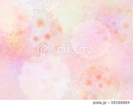 背景-桜-和紙-春 38388884