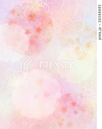 背景-桜-和紙-春 38388885