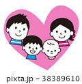 家族 親子 笑顔のイラスト 38389610