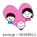 家族 親子 ベクターのイラスト 38389611