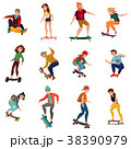 Skateboarders Characters Set 38390979