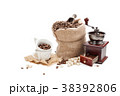 Coffee beans and ground coffee. 38392806