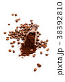 Coffee beans and ground coffee. 38392810