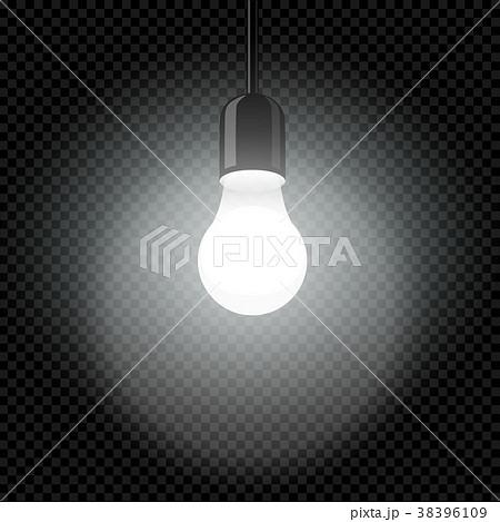 light bulb in dark template transparentのイラスト素材 38396109 pixta